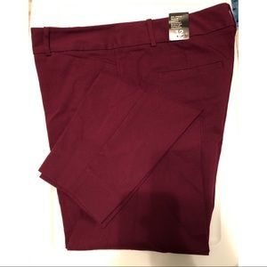 The Limited Skinny Leg Burgundy Pants - Size 12